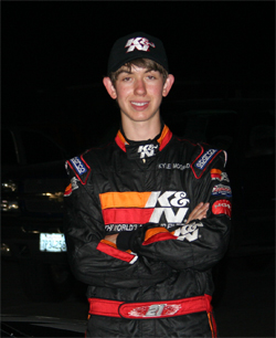 K&N Development Driver Kyle McGrady drove his first Late Model Stock Car event in Nascar Whelen All American Series at Irwindale, California