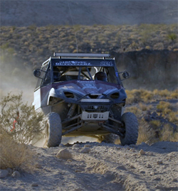 ITP wheels and tires, K&N air filters and Lockmann Precision built Muzzy's motor on Kawasaki Teryx built by Side X Side Outfitterz finished 7 grueling desert races in 2009