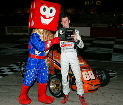 Western Speed Driver Michael Lewis drove Ford Focus Midget to victory at the Las Vegas Motor Speedway Bullring in Nevada