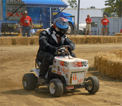 K&N sponsored lawn mower racer Ken Jones competes in the AP portion of the IMOW class at the STA-BIL National Lawn Mower Racing Series in Delaware, Ohio