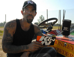 Lawn mower racer Allen Minaker is known as LawnMonkey on the lawn mower circuit and said lawn mower racing is his redemption