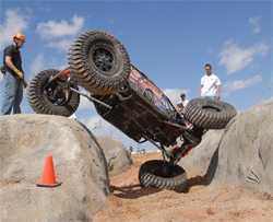 Brad and Roger Lovell are ready for the XRRA season opener in Moab, Utah, photo by Jud Leslie