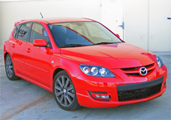 2007 Mazdaspeed 3 with a 2.3 liter turbocharged engine