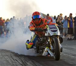 Ten Time AMA Top Fuel Motorcycle Champion Larry Spiderman McBride