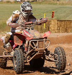 Pro ATV Champion Beau Baron secured the win despite a rough crash in the whoops section at Mesquite, Nevada