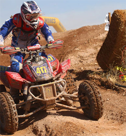 ATV Racer Josh Row was pulled out of the race during the last lap, but finished the WORCS Pro ATV Championship Series 5th overall in points