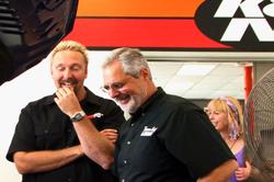 Two Guys Garage Sam Memmolo and K&N's Bert Heck