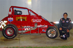 Honda Powered Stealth Midget with K&N products ready for USAC Western States Dirt Midget 2009 Series