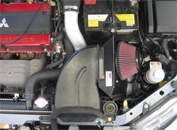 69-6545T K&N air intake system installed in 2006 Mitsubishi Lancer Evolution