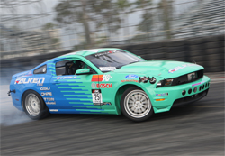 2010 Mustang GT driven by Vaughn Gittin Jr. in Drifting Competition at Long Beach, California