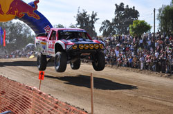 Papas and Beer Ford F-150 drove his Ford F-150 at the starting line of the Baja 1000