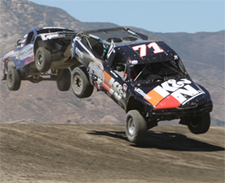K&N No. 71 truck driven by Alan Pflueger on the short course dirt track at Lake Elsinore, California