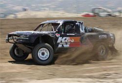 Alan Pflueger is currently second overall in points in the Lucas Oil Off Road Racing Series