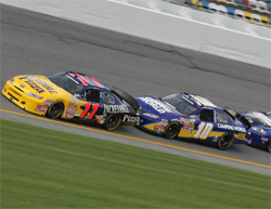 The 2009 NASCAR Nationwide Series Season Opener started out promising for the America's Incredible Pizza Company Race Team, photo credit Christina Ramzel 2009