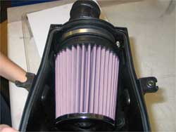 Air Filter Installed in Polaris Outlaw 525