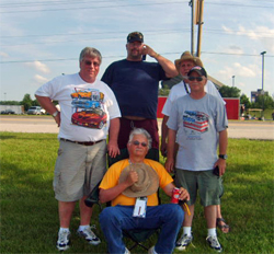 Bob Proulx left and friends on the Hot Rod Power Tour