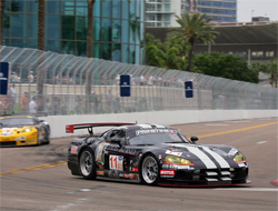 Primetime Racing Viper Stranded in the St. Pete Street Fight in the American Le Mans Series in Florida