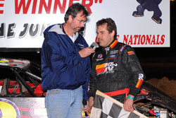 Ray Cook Interviews after his victory in the 2010 Bama Bash. Photo by Thomas Hendrickson Photos.