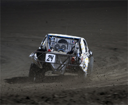 The rest of the pack at LOORRS saw the back of Ricky James' truck at Lake Elsinore, California LOORRS race