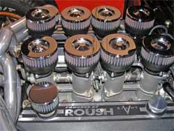 K&N custom air filter designed for Roush