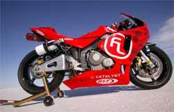 Honda CRV 600 rider Paul Livingston will go for land speed record at Bonneville Salt Flats during Speed Week