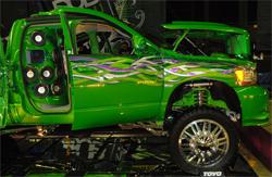 DUB Magazine award winning truck will be on display at SEMA 2009 in Las Vegas, Nevada