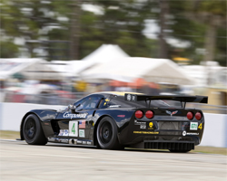 No. 4 Compuware Corvette C6.R finished 7th overall in the GT1 Class at the Mobil 1 Twelve Hours of Sebring