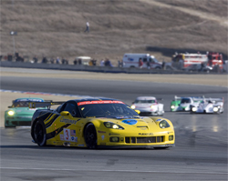 Corvette Racing scored its fifth podium finish in five races with GT2 Corvette C6.R, photo by GM Corp.