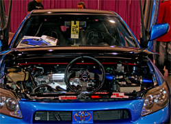 NRG Quick Release and NRG Steering Wheel take center stage on 2006 Scion tC at the SEMA show