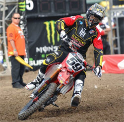 AMA Supercross Series continues for Carey Hart's Rockstar Energy Hart and Huntington Team