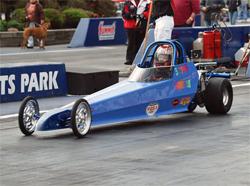 Junior Drag racer Sonsee Trubach at Summit Motorsports Park in Norwalk, Ohio
