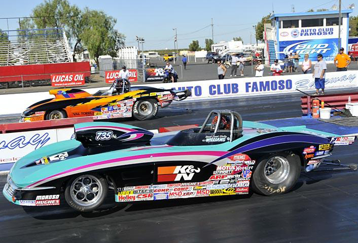 NHRA Super Gas Win for Steve Williams in 1963 Corvette at