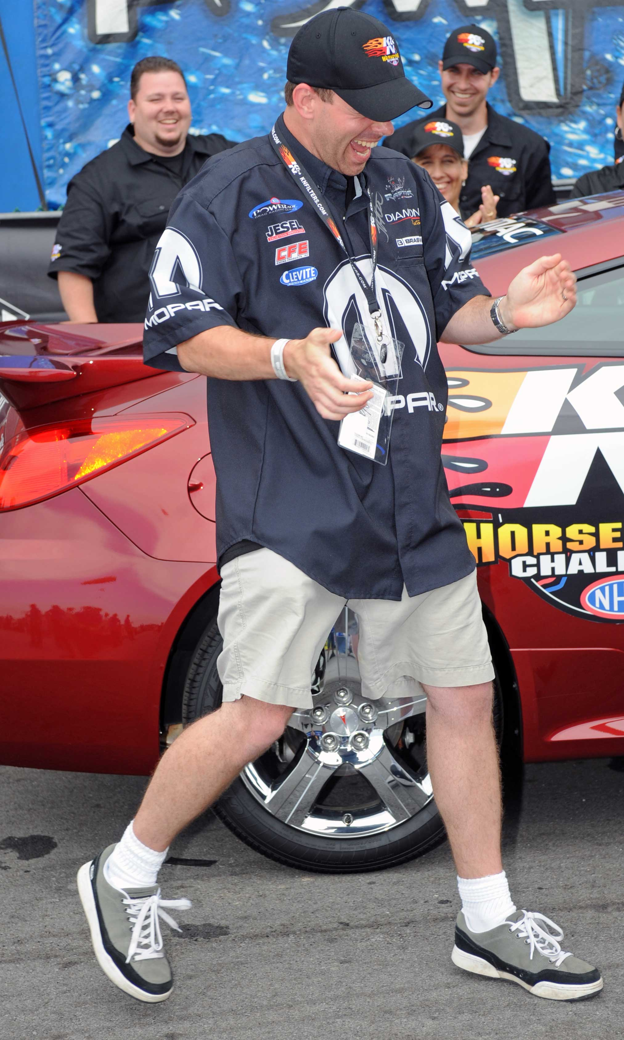 Edward Merry, Jr. Dances with Joy After Winning Pontiac GXP Coupe in K&N Engineering Horsepower Challenge Sweepstakes