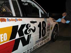 Both K&N Air and Oil Filters were used during the race