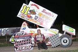 Tim Allison won the 360 Sprints car championship at Waynesfield Motorsports Park in 2009