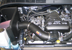 K&N air intake system 63-9032-1 installed in a 2007 Toyota Tundra