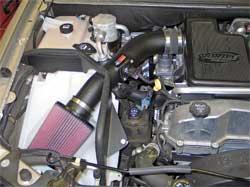 Chevrolet Trailblazer with K&N air intake 57-3062 installed