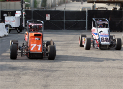 Brake Problems put a damper on Turkey Night for teen racer Cody Swanson