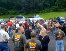 The first driver's meeting on the Ultimate Adventure