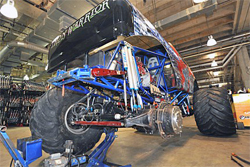 Iron Warrior driven by Trey Myers is part of the Black Stallion Team