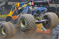 Black Stallion took the wins in Monster Jam racing, wheelie and freestyle contests at the Alltel Arena in Little Rock, Arkansas