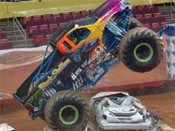 Michael Vaters at the Thunder Nationals Series Monster Jam