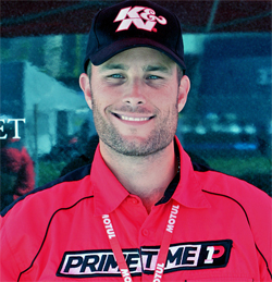 Primetime Team Owner and Driver Joel Feinberg at the Tequila Patron American Le Mans Series in Long Beach, California