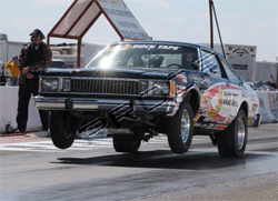 1980 Plymouth Volare driven by Michael Beard at the IHRA Summit Pro Am event in Immokalee, Florida