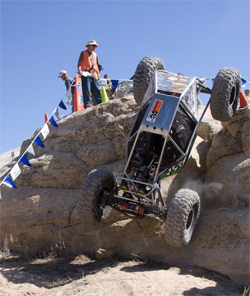 Moon buggy named Roxanne climbed to a 4th place national ranking in rock crawling series