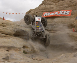 Team Waggoner's moon buggy climbed and twisted through incredible courses at the rock crawling Grand National event in Farmington, New Mexico