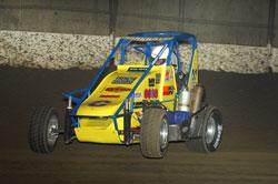 A Wally Pankratz Midget Car in Action.