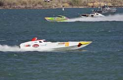 Worthy Risk took first place at an average lap speed of 87.10 mph in production 3 class at Lake Havasu, Arizona