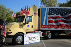 """The truck that will be completing the first leg of the """"Rolling Remembrance"""" relay"""