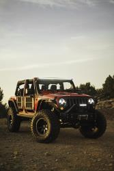 Front view of the Jeep Wrangler
